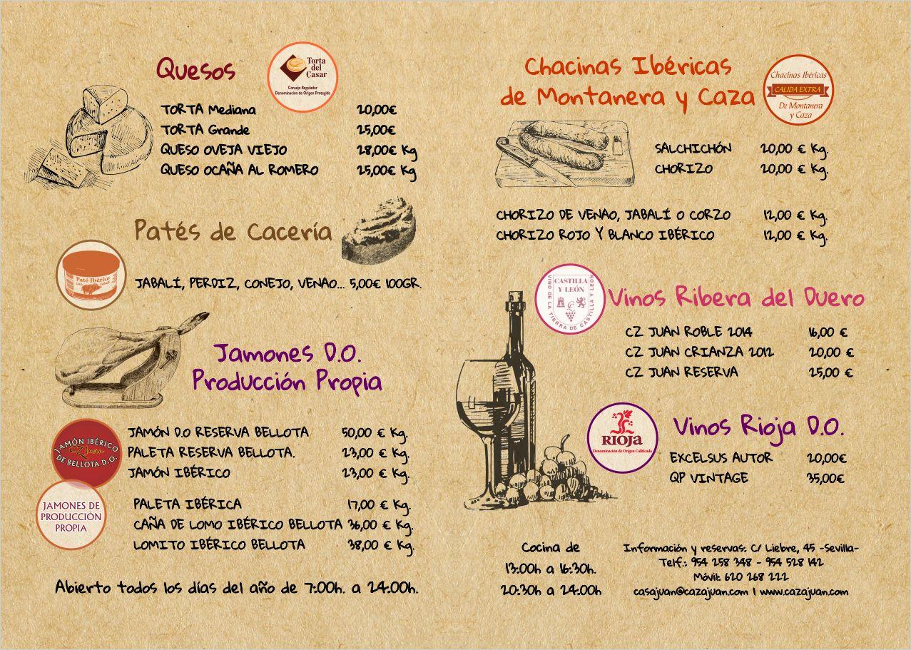 Caza Juan. Restaurante y Bar en Valdezorras. Sevilla. Junto al aeropuerto
