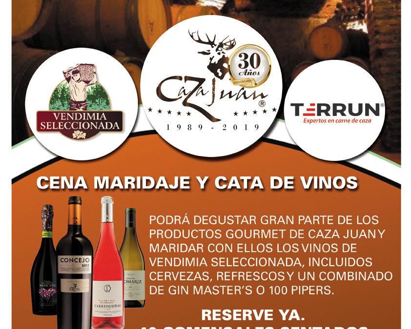 Cena Maridaje y Cata de Vino. 27 de Septiembre