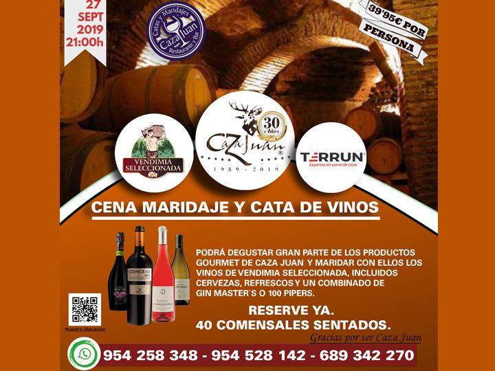 Se acerca nuestra Cena de Maridaje y Cata de Vinos en Caza Juan, tu restaurante especializado en carne de caza y arroces en Sevilla