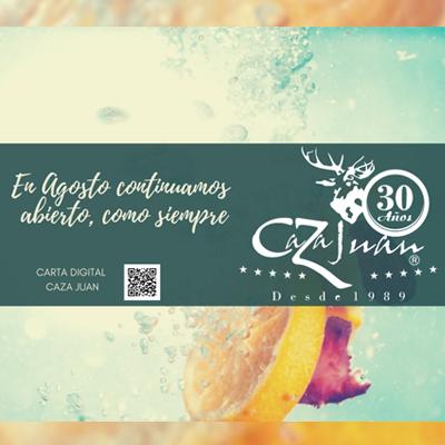 En Agosto, seguimos a tu lado. Caza Juan, tu restaurante en Sevilla.