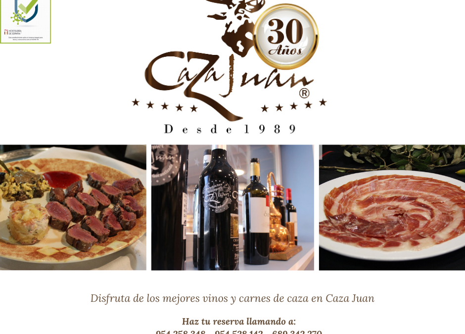 Jamón, Vinos, Carnes de Caza y Arroces de la mayor calidad, sólo en Caza Juan