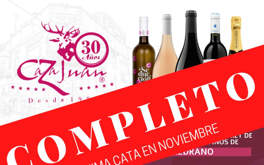 Aforo completado para nuestra próxima Cata de Vinos y Cena Maridaje con Bodegas Medrano Irazu