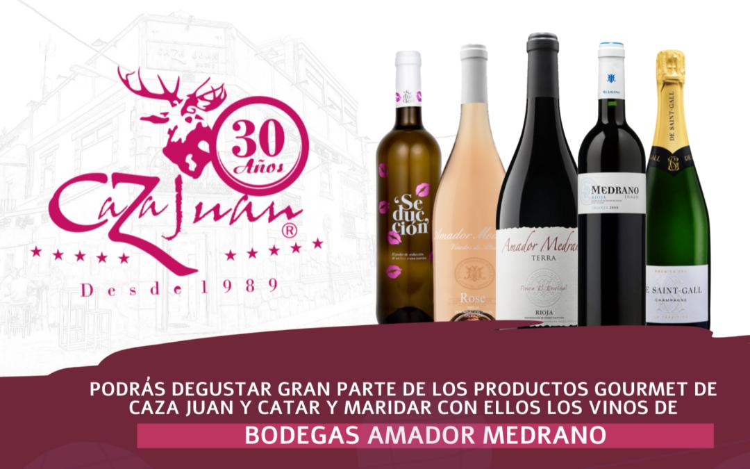 Cata de Vinos y Cena Maridaje con Bodegas Amador Medrano, en Caza Juan, tu restaurante en Sevilla
